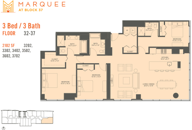 3 Bedrooms, The Loop Rental in Chicago, IL for $7,595 - Photo 1