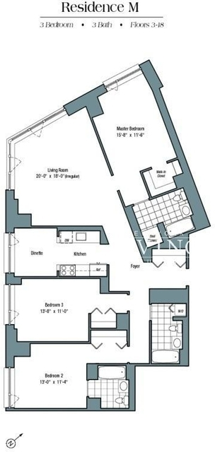 3 Bedrooms, Battery Park City Rental in NYC for $12,000 - Photo 2
