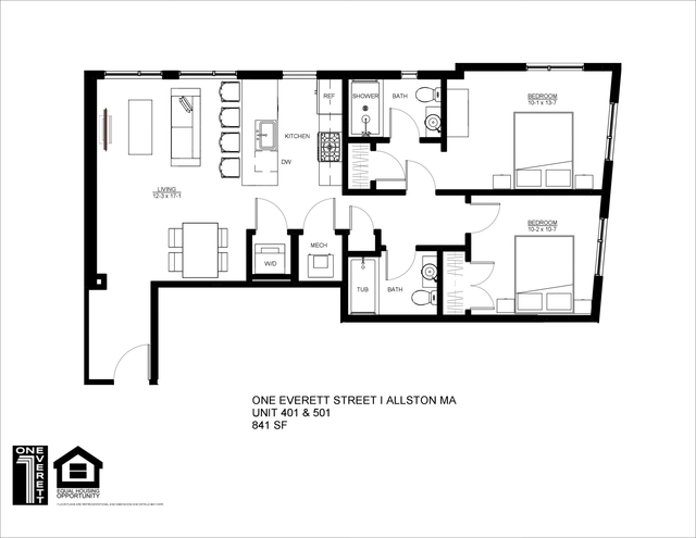 2 Bedrooms, Fields Corner East Rental in Boston, MA for $3,750 - Photo 2