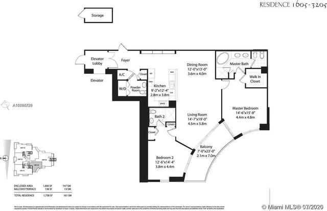 2 Bedrooms, Brickell Key Rental in Miami, FL for $4,500 - Photo 2