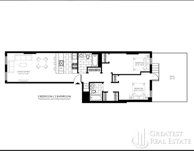 2 Bedrooms, Carroll Gardens Rental in NYC for $4,495 - Photo 2