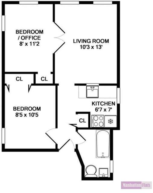 2 Bedrooms, Yorkville Rental in NYC for $2,200 - Photo 2