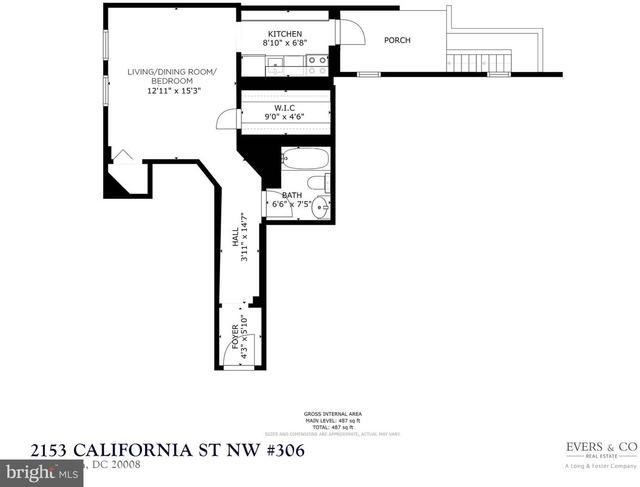 Studio, Kalorama Rental in Washington, DC for $1,850 - Photo 2