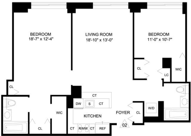 2 Bedrooms, Garment District Rental in NYC for $4,803 - Photo 2