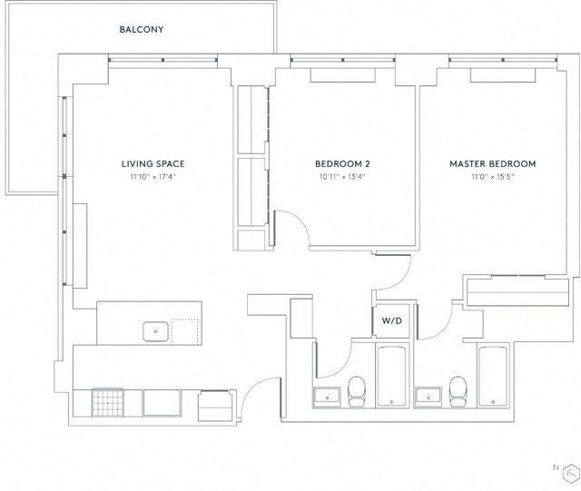 2 Bedrooms, Hell's Kitchen Rental in NYC for $4,358 - Photo 1