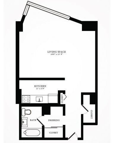 Studio, Gold Coast Rental in Chicago, IL for $1,317 - Photo 2