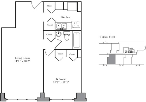 1 Bedroom, Yorkville Rental in NYC for $3,441 - Photo 2