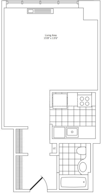 Studio, Rose Hill Rental in NYC for $2,657 - Photo 2
