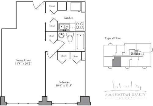 1 Bedroom, Yorkville Rental in NYC for $3,126 - Photo 2