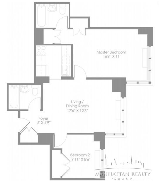 2 Bedrooms, Theater District Rental in NYC for $4,583 - Photo 1