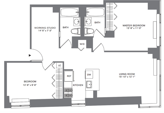 2 Bedrooms, Tribeca Rental in NYC for $6,169 - Photo 2