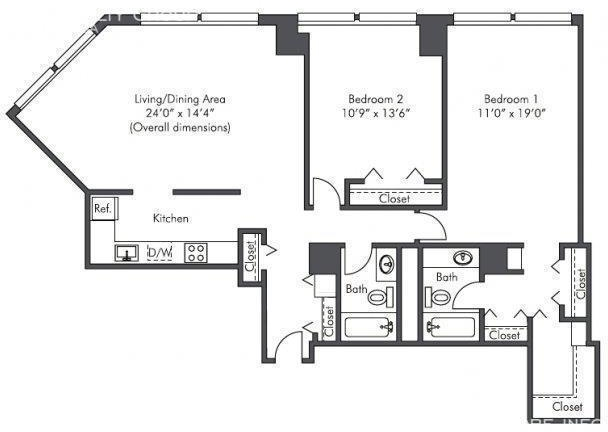 2 Bedrooms, West Loop Rental in Chicago, IL for $2,420 - Photo 1