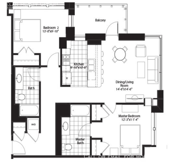 2 Bedrooms, Fulton River District Rental in Chicago, IL for $3,105 - Photo 2