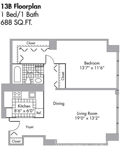1 Bedroom, Gold Coast Rental in Chicago, IL for $1,982 - Photo 2
