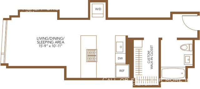 Studio, The Loop Rental in Chicago, IL for $1,808 - Photo 1