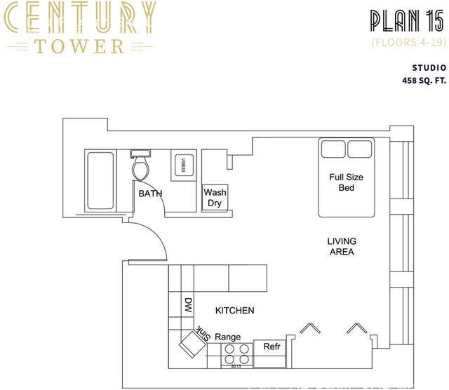 Studio, The Loop Rental in Chicago, IL for $1,505 - Photo 2