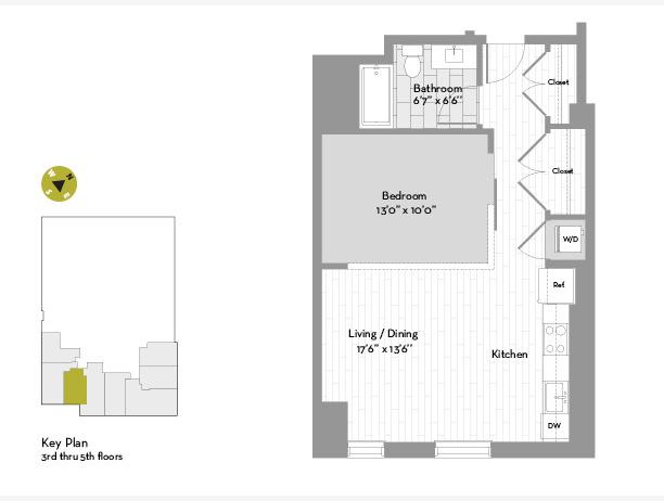 Studio, Chinatown - Leather District Rental in Boston, MA for $3,035 - Photo 1