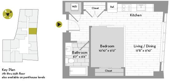 Studio, Chinatown - Leather District Rental in Boston, MA for $2,596 - Photo 1