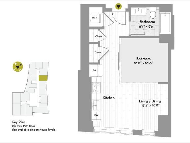Studio, Chinatown - Leather District Rental in Boston, MA for $2,784 - Photo 1