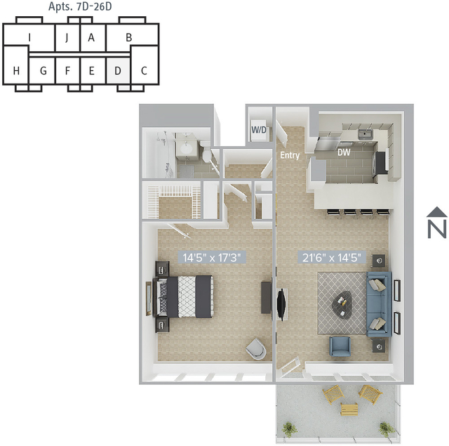 1 Bedroom, Prudential - St. Botolph Rental in Boston, MA for $3,780 - Photo 1