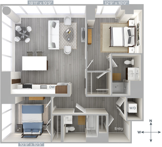 2 Bedrooms, Downtown Boston Rental in Boston, MA for $4,230 - Photo 1