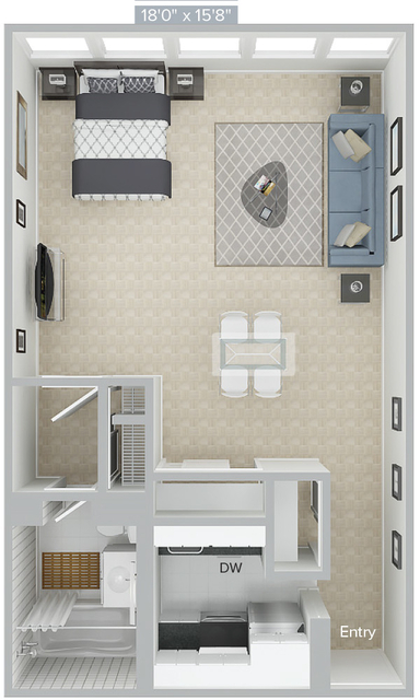Studio, Prudential - St. Botolph Rental in Boston, MA for $3,050 - Photo 1