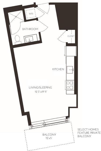 Studio, Seaport District Rental in Boston, MA for $2,420 - Photo 1