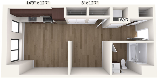 Studio, Chinatown - Leather District Rental in Boston, MA for $3,070 - Photo 1