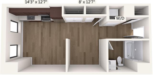 Studio, Chinatown - Leather District Rental in Boston, MA for $3,020 - Photo 1