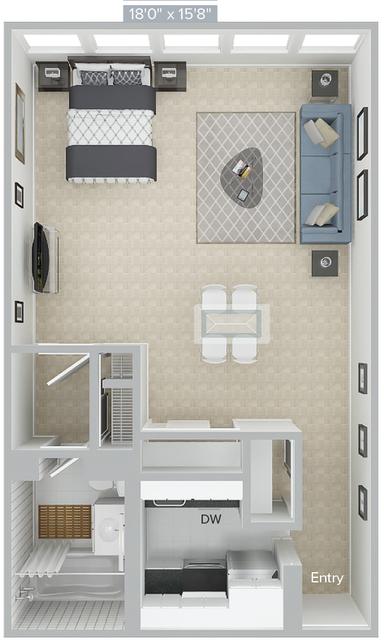 Studio, Prudential - St. Botolph Rental in Boston, MA for $3,160 - Photo 1