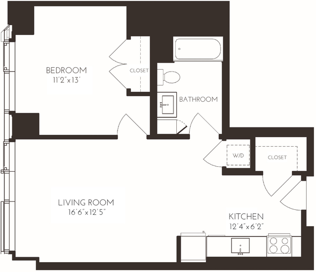 1 Bedroom, Seaport District Rental in Boston, MA for $3,456 - Photo 1