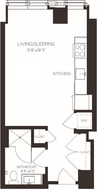 Studio, Seaport District Rental in Boston, MA for $2,626 - Photo 1