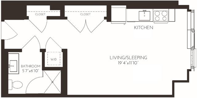 Studio, Seaport District Rental in Boston, MA for $2,772 - Photo 1
