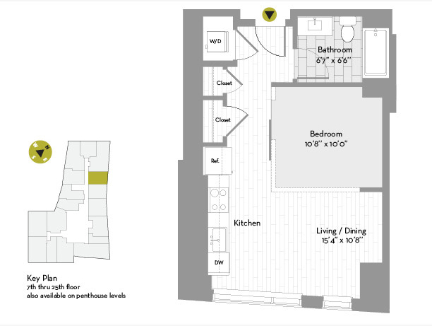 Studio, Chinatown - Leather District Rental in Boston, MA for $3,284 - Photo 1