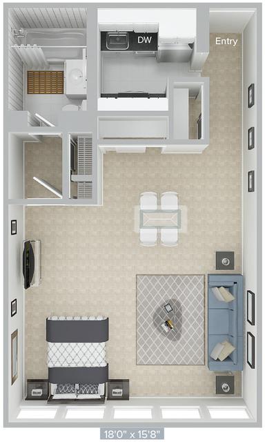 Studio, Prudential - St. Botolph Rental in Boston, MA for $2,785 - Photo 1