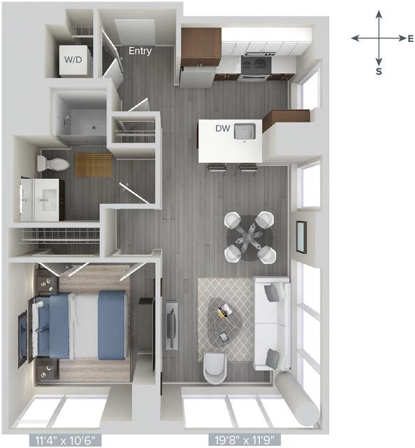 1 Bedroom, Downtown Boston Rental in Boston, MA for $3,455 - Photo 1