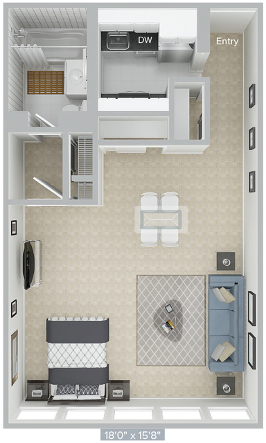 Studio, Prudential - St. Botolph Rental in Boston, MA for $2,935 - Photo 1