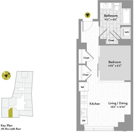 Studio, Chinatown - Leather District Rental in Boston, MA for $3,062 - Photo 1