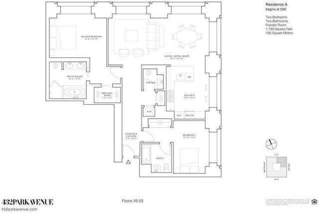 2 Bedrooms, Midtown East Rental in NYC for $24,800 - Photo 2