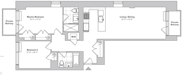2 Bedrooms, Long Island City Rental in NYC for $4,088 - Photo 2