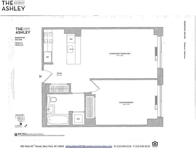 1 Bedroom, Lincoln Square Rental in NYC for $3,520 - Photo 2