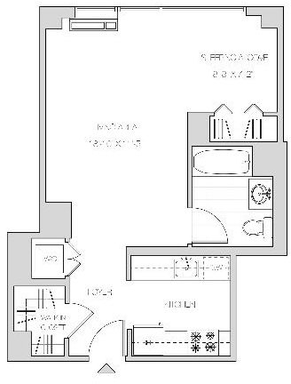 Studio, Hunters Point Rental in NYC for $3,195 - Photo 2