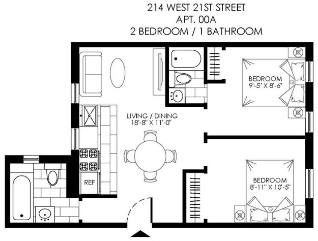 2 Bedrooms, Chelsea Rental in NYC for $3,250 - Photo 2