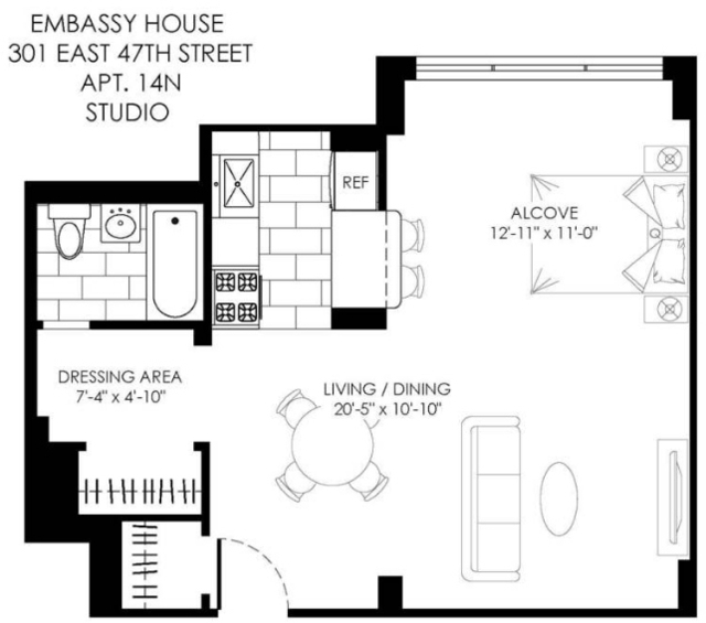 Studio, Turtle Bay Rental in NYC for $2,580 - Photo 2