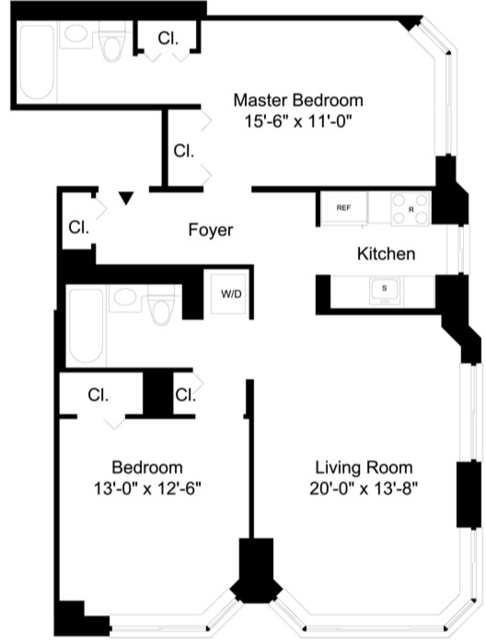 2 Bedrooms, Financial District Rental in NYC for $4,600 - Photo 1