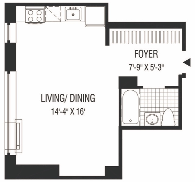 Studio, Financial District Rental in NYC for $2,334 - Photo 2
