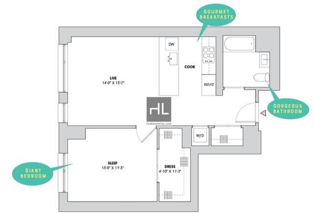 1 Bedroom, Alphabet City Rental in NYC for $4,629 - Photo 2