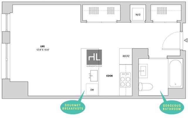 Studio, Alphabet City Rental in NYC for $3,741 - Photo 2