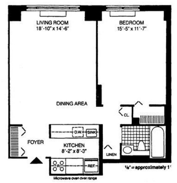 1 Bedroom, Battery Park City Rental in NYC for $3,125 - Photo 2