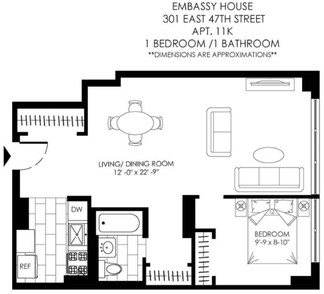 1 Bedroom, Turtle Bay Rental in NYC for $3,080 - Photo 2